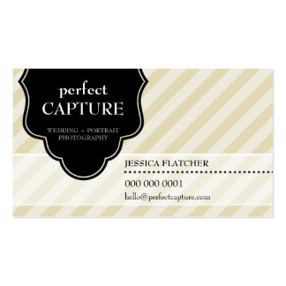 BUSINESS CARD cool bold captured gold stripe black