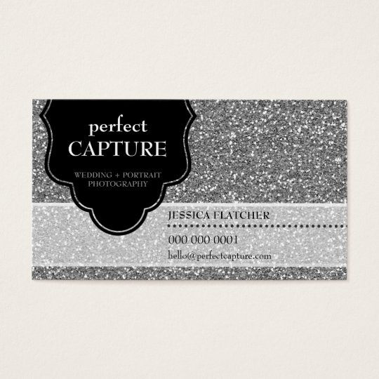 Business card cool bold captured silver glitter zazzle business card cool bold captured silver glitter colourmoves Gallery