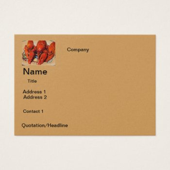 Business Card Crawfish Design by CREATIVEforBUSINESS at Zazzle