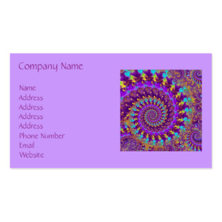 Business Card - Crazy Fractal Purple terquoise yel