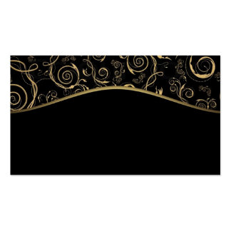 Business Card/Create Your Own Black and Gold Swirl Business Card