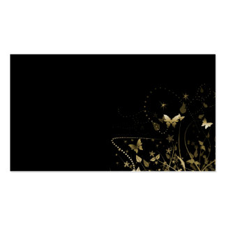 Business Card/Create Your Own Gold Butterflies Business Card