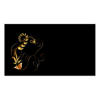 Business Card/Create Your Own Gold Butterfly Business Card