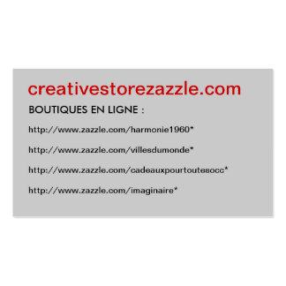 Business Card creativestorezazzle -