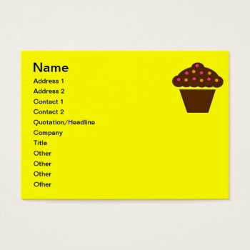 Business Card Cupcake Design by CREATIVEforBUSINESS at Zazzle
