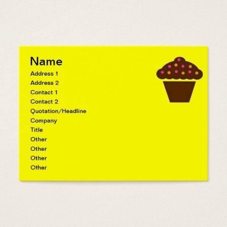 Business Card Cupcake Design