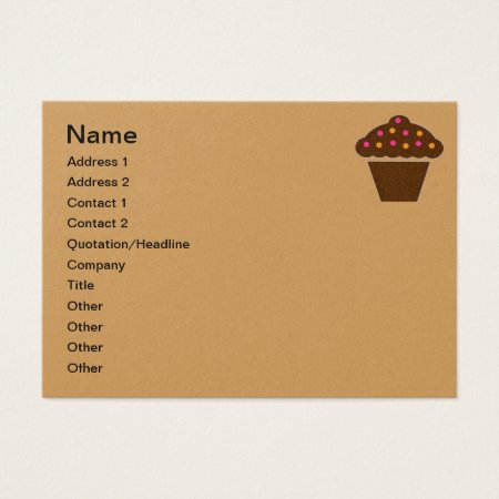Business Card Cupcake Design