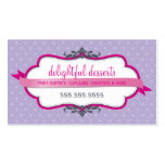 BUSINESS CARD cute stylish fuschia pink purple