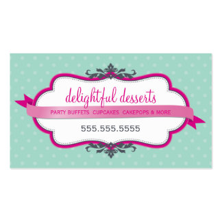 BUSINESS CARD cute stylish pink pale mint green