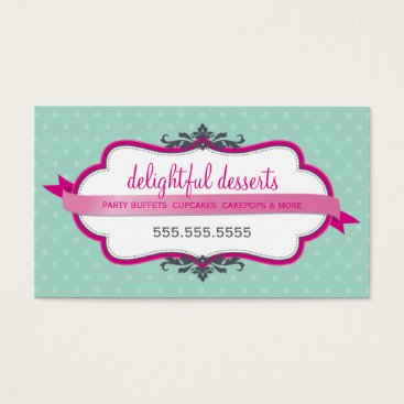 Professional Business BUSINESS CARD cute stylish pink pale mint green
