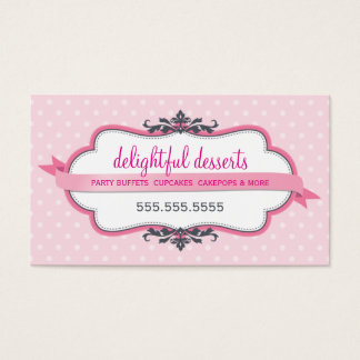 BUSINESS CARD cute stylish pink pastel pale baby