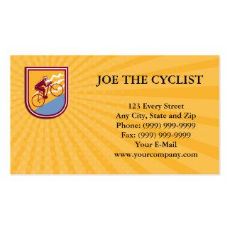 Business card Cyclist Riding Mountain Bike Uphill