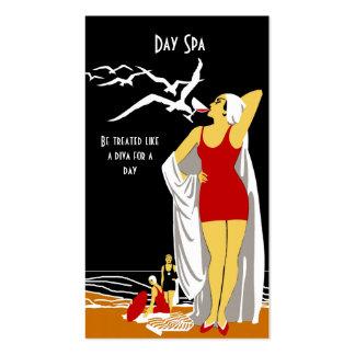 Business Card Day Spa Beauty Salon Diva retro 2 Business Cards