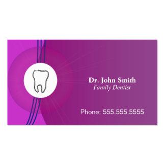 Business Card Dentist Purple Wonderful Style
