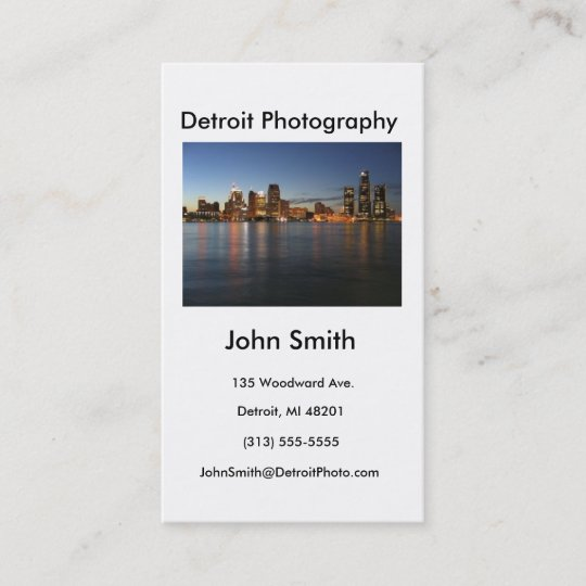 Business card detroit photography business card zazzle business card detroit photography business card colourmoves