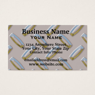 Business Card Diamond Plate