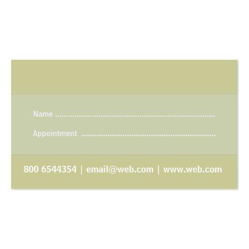 Business Card Doctors Eco Sage Green (back side)