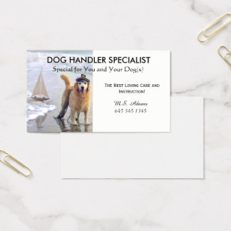 BUSINESS CARD - DOG BUSINESS-TRAINING-CARE
