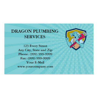 Business card Dragon Plumber Monkey Wrench Fist Pu