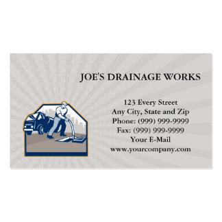 Business card Drainage Unblocking Drain Surgeon Re