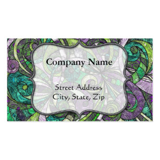 Business Card Drawing Floral Zentangle