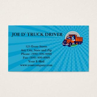 Business card Dump Truck Driver Thumbs Up Circle C