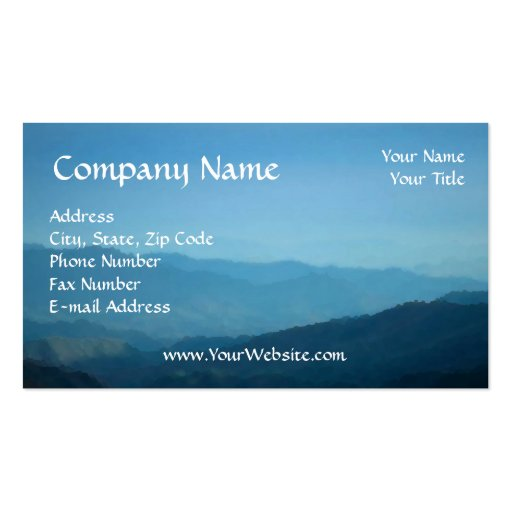 Business Card, Easy to Design Online, Mountain Sky Business Card