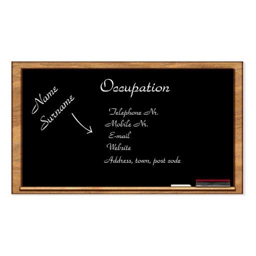 Business Card: Education & Training