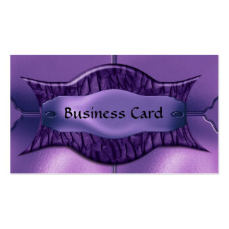 Business Card Elegant African Purple Metal