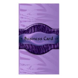 Business Card Elegant African Purple Metal Floral