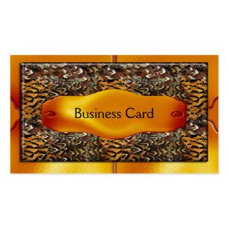 Business Card Elegant Animal Wild African Metal 2