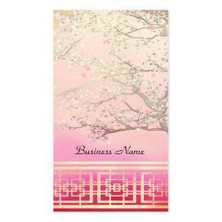 Business Card Elegant Asian Scene Pink