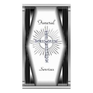 Business Card Elegant Funeral Services Chrome Elit