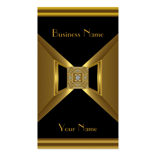 Business Card Elegant Gold Black Jewel Business Card Templates