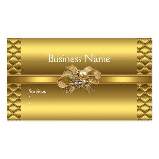 Business Card Elegant Gold BowsTile Trim Jewel Business Card