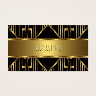 Business Card Elegant Gold on Black