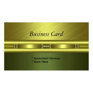 Business Card Elegant Green Gold Avocado