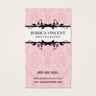 BUSINESS CARD elegant lux foliage
