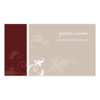 BUSINESS CARD elegant modern foliage