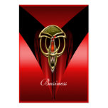 Business Card Elegant Red Art Deco Gold Jewel Business Cards