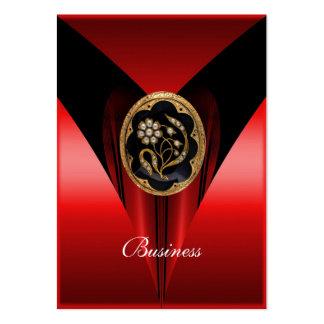 Business Card Elegant Red Black Gold Jewel