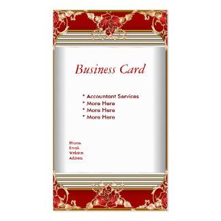 Business Card Elegant Red Gold White Elite