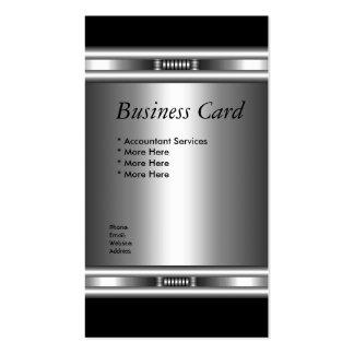 Business Card Elegant Silver Black Elite 3