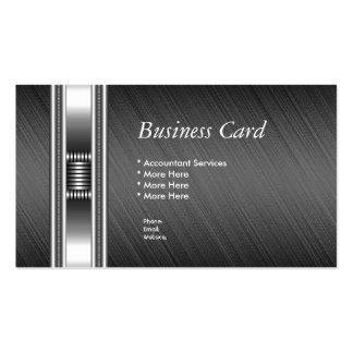 Business Card Elegant Silver Chrome Grey Elite