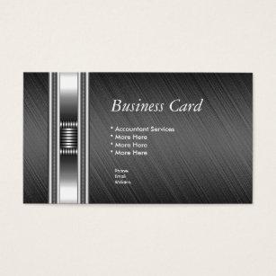 Elite business cards templates zazzle business card elegant silver chrome grey elite colourmoves