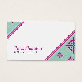 BUSINESS CARD elegant slant pink mint green