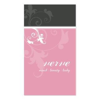 BUSINESS CARD elegant verve foliage pink grey