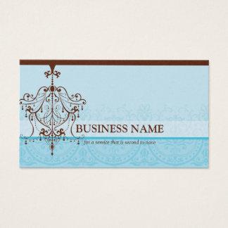 BUSINESS CARD elegant vintage chandelier