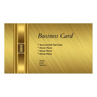 Business Card Elegant Yellow Gold Elite