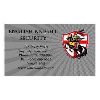 Business card English Knight Lance England Flag Sh